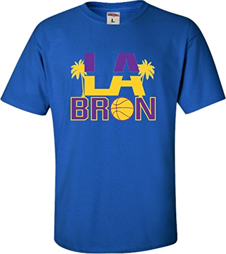 (Go All Out YS 6-8 Royal Youth Palm Tree LA Bron T-Shirt)