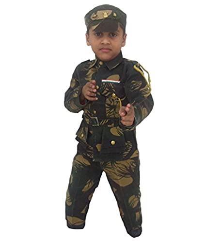 Soldier Fancy Costume for Kids with Camouflage Army Print  sc 1 st  Amazon.in & Buy Soldier Fancy Costume for Kids with Camouflage Army Print Online ...