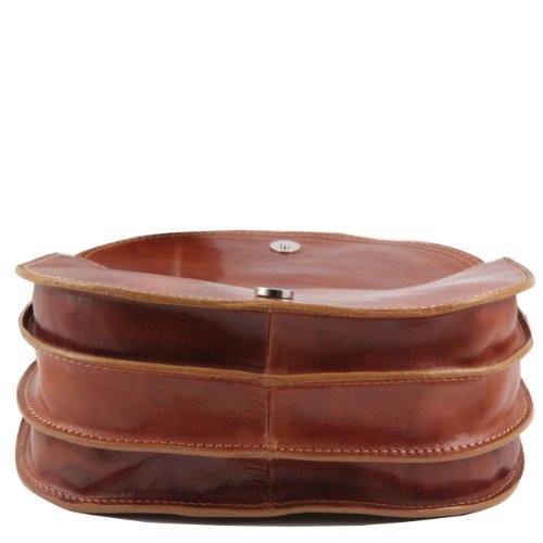Tuscany Leather Isabella Bolso de señora en piel Marrón oscuro Bolsos de asa larga Miel