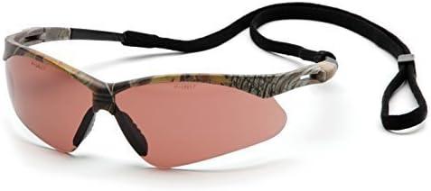 Pyramex Safety PMXTREME Eyewear, Camo Frame with Cord, Sandstone Bronze Anti-Fog Lens