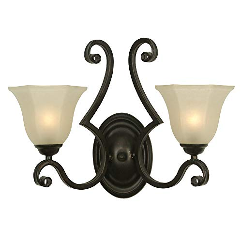 - Dolan Designs 779-34 Winston 2 Arm Sconce Olde World Iron