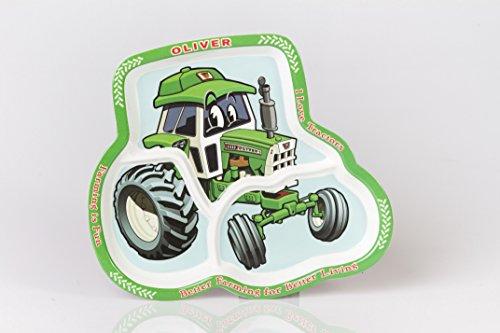Oliver Tractor Children's Melamine Plate (Toys Oliver Tractor)