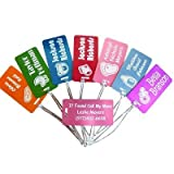 Custom Baby Diaper Bag & Stroller ID Tag Luggage FREE Laser Engraving Tag Set (2)