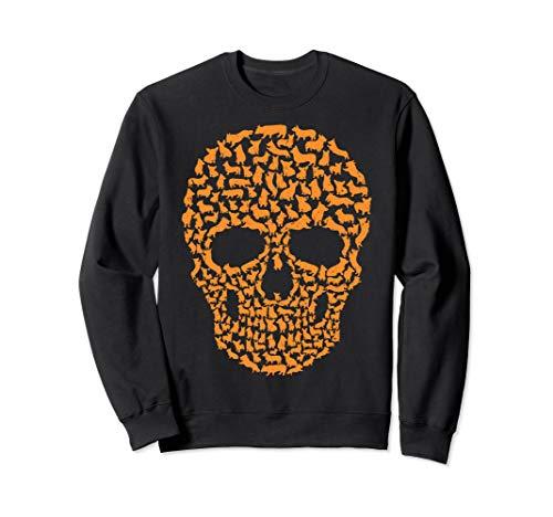 Cool Skull Dog Corgi Halloween Costume Idea Sweatshirt