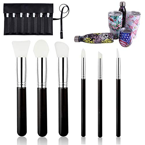 6 Pcs Magic Silicone Epoxy Brushes Applicators Set for Making Epoxy Glitter Tumblers, Flexible Epoxy Sticks Specially-Made Brushes DIY Tool to Mix and Apply Epoxy Resin Acrylic Cups