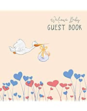 BABY SHOWER GUEST BOOK with GIFT LOG (Hardcover) for Baby Naming Day, Baby Shower Party, Christening or Baptism Ceremony, Welcome Baby Party: For baby showers, naming day ceremony, christening, baptism