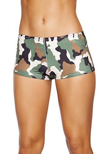 Roma Costume Women's Camouflage Boy Shorts, Camouflage, Medium/Large (Sexy Costumes For Boys)