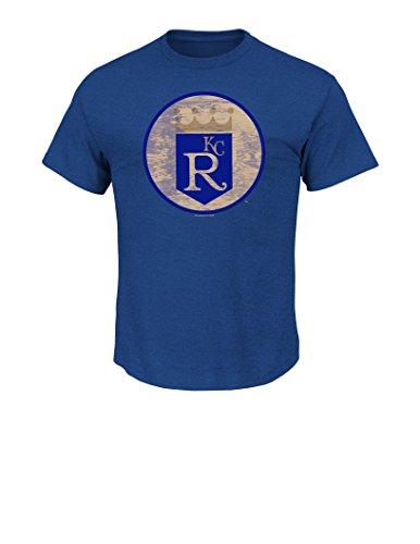 (VF LSG MLB Kansas City Royals Men's Drawing On Tee, Medium, Royal Heather)