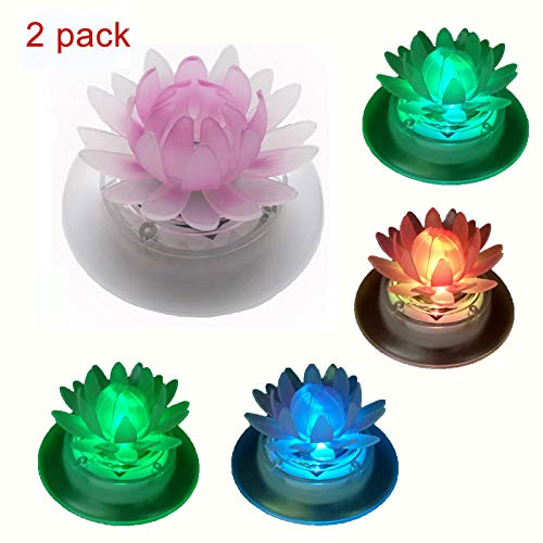 Obell Solar Floating Lights Outdoor Waterproof LED Color Changing Garden Lights Floating Pool Pond Lights Decoration -