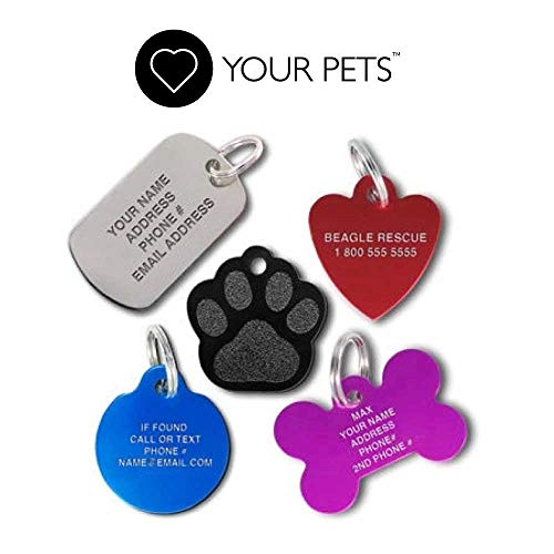 Love Your Pets Deep Engraved Stainless Steel Pet ID Tags - Over 6 Million Sold-Now Selling on Amazon! 48 Choices - Stainless Steel, Brass & Aluminum Pet Tags, Dog Tags & Cat Tags - Made in The USA ()