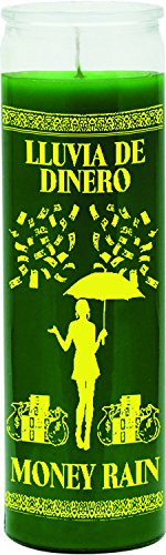 INDIO 7DAY CANDLE-MONEY RAIN GRN:Candle 7 Day Money Rain Green