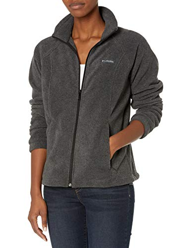 Columbia womens Benton Springs Full Zip Fleece Jacket, Charcoal Heather, X-Small US