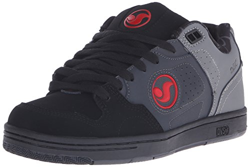 DVS Men's Discord Action Sports Moto, De Grey/Black/Red Nubuck Deegan, 8 M (Action Sports Footwear)