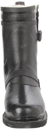 mujer Boot caucho RUB24 Jacobsen de Short Biker para Ilse Botas Negro waTq1px