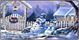 Snowmen Metal Novelty License Plate XMAS-04