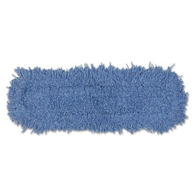 Twisted Loop Blend Dust Mop, Natural/synthetic/polyester, 5x24, Blue, Dozen