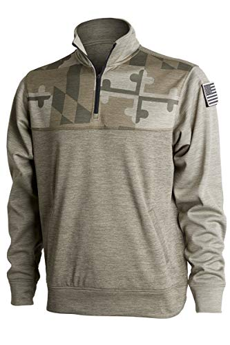 Covalent Activewear Maryland Tribute Pullover-27-XS Army Green