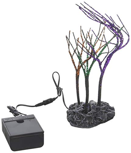 Department 56 Halloween Collections Lit Spooky Sparkle Trees Figurine Village Accessory, Multicolor]()