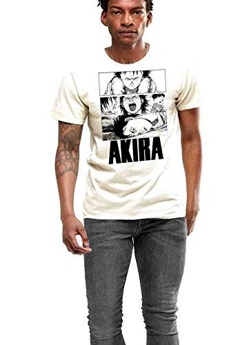 Anime T-shirt Akira Neo Tokyo Men White Cotton Tee (Large) ()