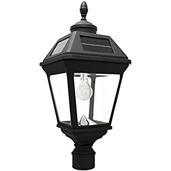 0d7ceedf2f1 Amazon.com   Gama Sonic GS-105FPW-BW Baytown with Fitter Lamp Only ...