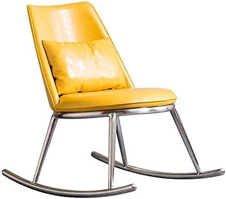 JYCCTTO - Sillón Mecedora Casual para jardín, para Todo Clima, para Exteriores, sillones tapizados con Almohada Lumbar Balcón, Patio Trasero, Mecedora (Color: Amarillo, tamaño: 85x56x81cm): Amazon.es: Hogar