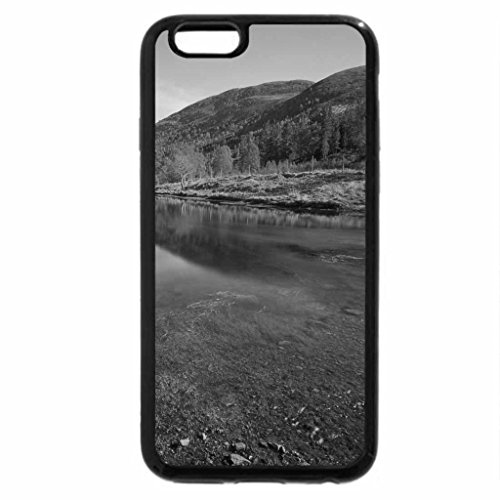 iPhone 6S Case, iPhone 6 Case (Black & White) - Lake In Valley