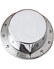 Flushzing Spoelen Keuken Timer Chef Koken Timer Klok met luid Alarm Mechanische RVS Countdown Herinnering