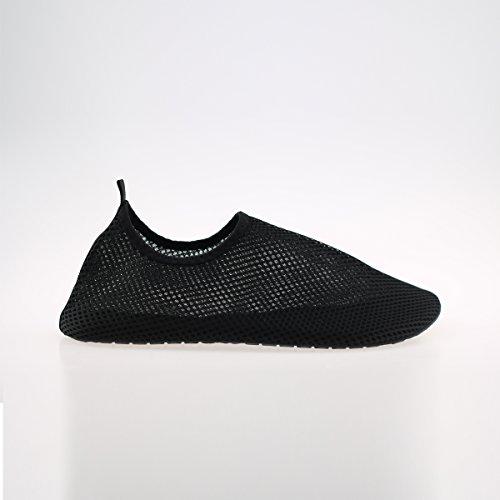 In_Time Barefoot Wasserhaut Schuhe Flexible Wohnungen für Yoga Runing Sport Unisex Schwarz