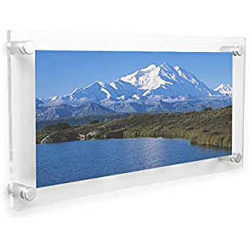 Amazon.com - Acrylic Floating Frame 8x10 Inch 3 Opening Clear Wall ...