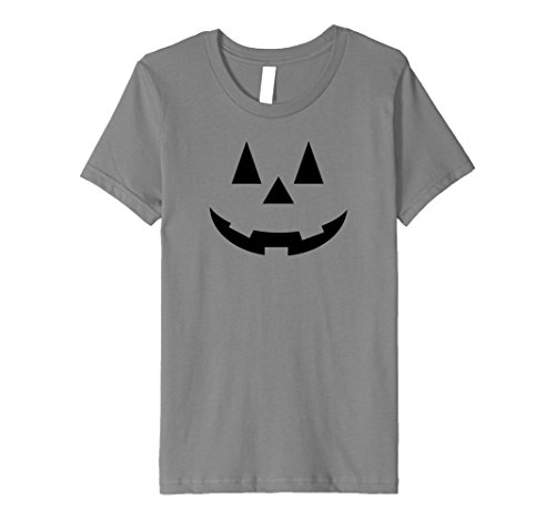 [Kids JACK O' LANTERN Pumpkin Premium Halloween Costume T-Shirt 8 Slate] (Slim Jim Halloween Costume)