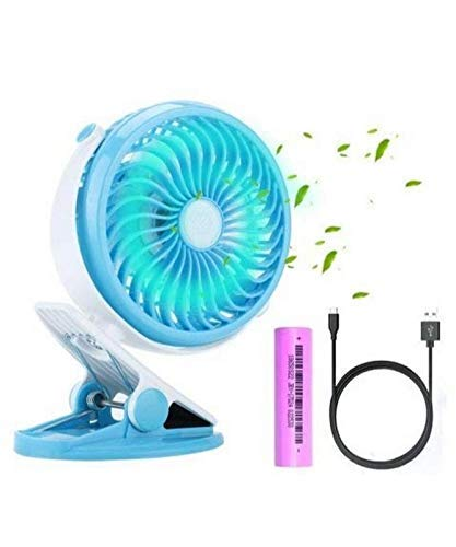 PAYPIN – Mini Battery Operated Clip Toy Fan, Small Portable Fan Powered by Rechargeable Battery or USB Desk Personal Fan for Kids – [Pack Of 1   Multi Color]