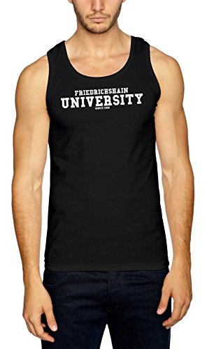 Friedrichshain University Muscleshirt Nero Certified Freak