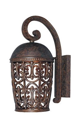 Burnt Umber Single Light Down Lighting Outdoor Wall Lantern from the Dark Sky Amherst Collection
