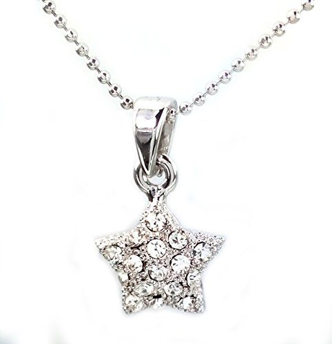 NF008 - Star Pendant Necklace, Rhinestone Pendant Necklace 16