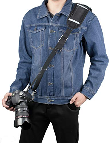 Sugelary Camera Strap, Long Shoulder Neck Sling Strap Quick Release DSLR Strap for Canon Nikon Sony Mirrorless Camera (Shoulder Neck Strap)