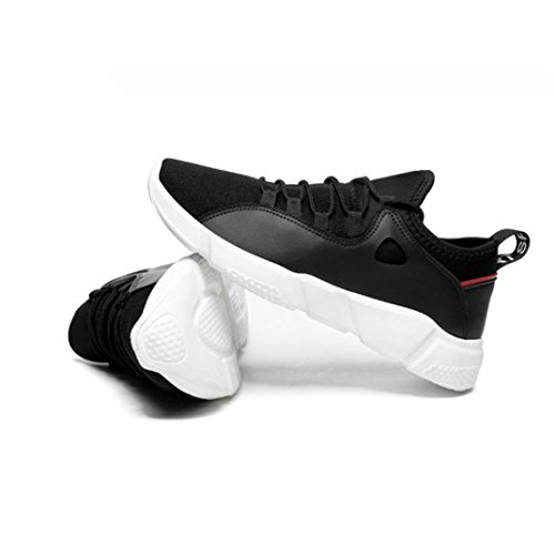 Bovake Casual Sneakers Shoes, Men's Spring Casual Travel Shoes Lace-up Flat With Sport Shoes Leisure Sneakers - Gym Running Jogging Trainers Fitness Lightweight Shoes Black