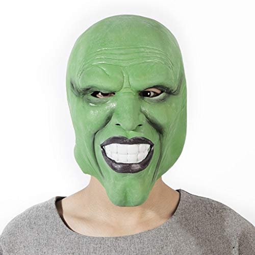 SHWSM Man's Scary Halloween Zombie Masks Costume Party Props Horror Monster Latex Head Mask-Multiple Models Available (Color : ()