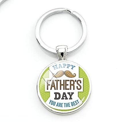 DCFVGB Feliz Día del Padre Usted Es El Mejor Llavero Regalo ...