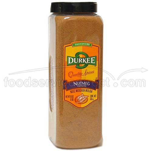 Durkee Ground Nutmeg - 16 oz. container, 6 per case by Durkee