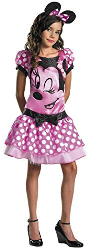 Disguise Costumes Pink Minnie Mouse Tween Costume, Girls, Large (10-12 (Minnie Mouse Costume For Tweens)