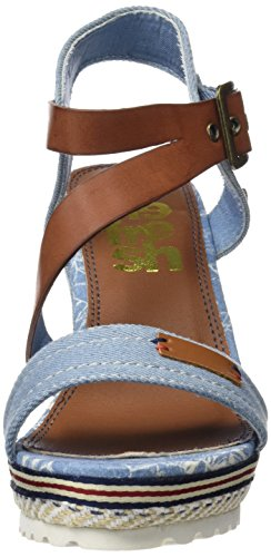 Refresh Mujer Punta jeans Azul 64292 Abierta Sandalias Con Para aUqr6a