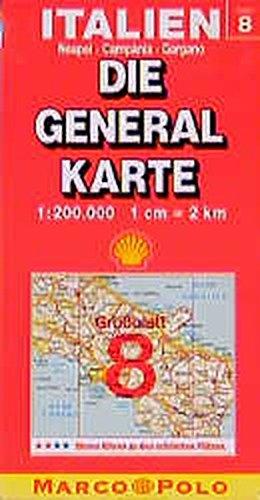 Die Generalkarten Italien, Bl.8, Neapel, Campania, Gargano (Die Generalkarte / Grossblatt 1:200000)