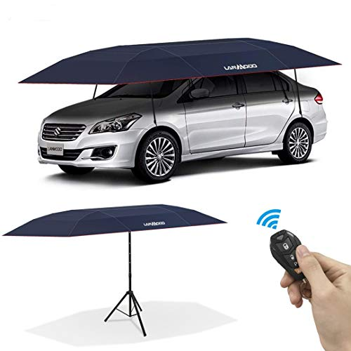LANMODO Pro Four-Season Wireless Car Tent Cover,Automatic Car Umbrella Tent Carport Canopy Beach...