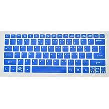 Bodu Silicone Keyboard Protector Cover for Acer Aspire S3, S5, 11.6 inch Aspire One AO756 AO725 V5-121 V5-131, V5-171, TravelMate B115, TravelMate B113 (Blue)