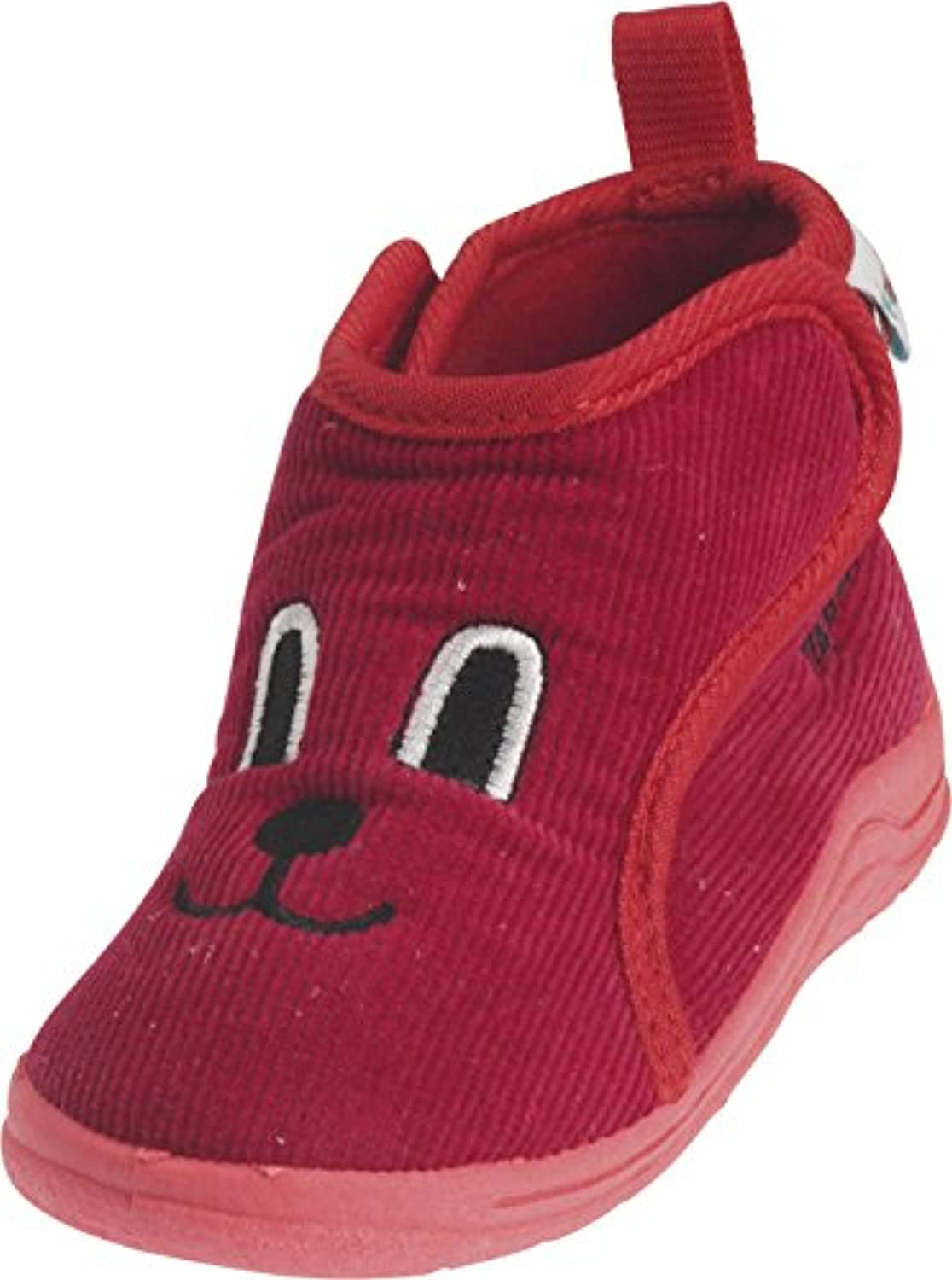 Playshoes Boys House Face Design Slippers 201752 Red 2.5 UK Child, 18 EU, Regular
