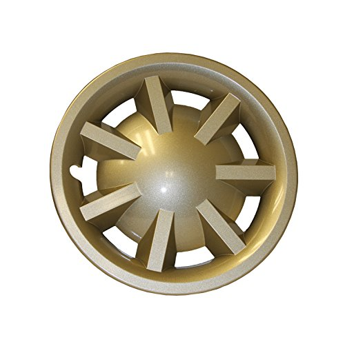 EZGO Metallic Gold Hubcap Assembly for RXV without Logo, 8-Feet