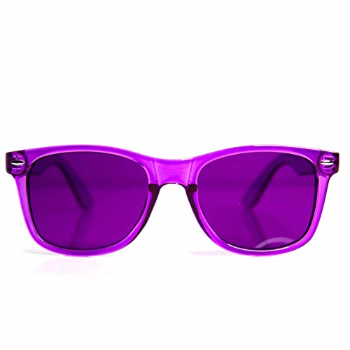 GloFX Violet Color Therapy Glasses Chakra Glasses Relax - Sunglasses Violet