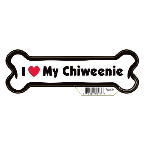 Chiweenie Dog Bone Magnet