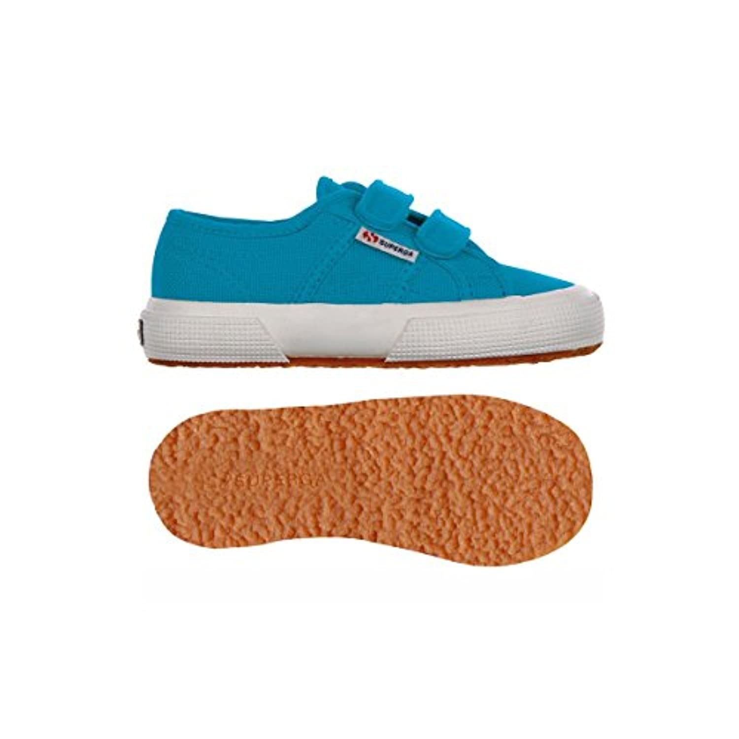 Superga 2750 Jvel Classic, Unisex Kids' Low-Top Sneakers, Blue (Sea Blue), 1 Child UK (33 EU)