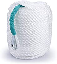 Bang4buck Anchor Rope 100 Feet/200 Feet Braided Polypropylene Anchor Line with Thimble, Boat Rope Marine Rope
